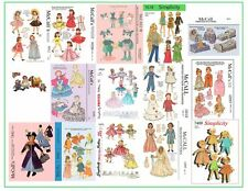 Over 250 Doll Sewing Patterns - mary poppins, miss revlon, etc on DVD