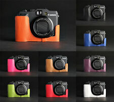 Real Leather Half Camera Case Camera bag for CANON G15 G16 10 colors