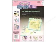 Grafix Shrink Film 8 1/2 X 11 In. Ink Jet White 6 Pc.