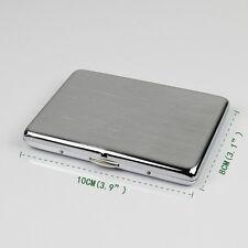 ultra-thin brushed matte silver cigarette case cigarette box for mini cigarette