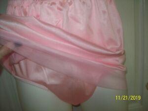 "PINK Tricot SLIP & PANTY Sheer Hem - Men & Women * 28-42 Waist * Length 17"""