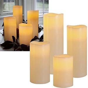 "LED Echtwachs Kerze ""BIG"" mit Timer XXL-Kerzen flackernd Wax Candle XL Wachs"
