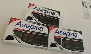 3 Bars Asepxia Charcoal Acne Bar Soap Advanced Formula for combination skin 4oz