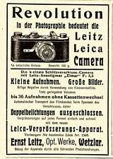 1927 Leica Kleinfilm-Kamera REVOLUTION 7x10 cm original Printwerbung