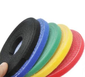 2cm*25m Double Sided Hook and Loop Tape Fastener Cable Ties Strap 5 Colors