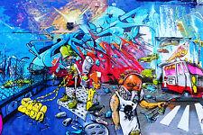STUNNING POP ART GRAFFITI URBAN STREET ART CANVAS #743 QUALITY ARTWORK PICTURE