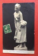 CPA. Salon de 1907. Antonin MERCIÉ. Le Départ du Village. Jeune Fille. Tristesse