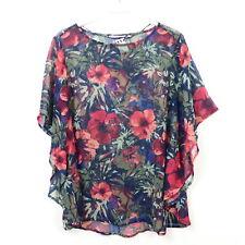 TOM TAILOR Bluse Tunika Semi-Transparent Flower Geblümt Multicolor Gr. 40 L