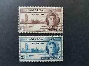 Omnibus - Jamaica - 1946 - Sc 136 - 37 - Peace Issue  MH