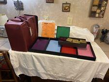 Premier Designs Travel Storage Jewelry Case With 4 Display Trays 16x16x9