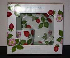 Wedgwood WILD STRAWBERRY MUG and BOWL 2-PC Set  NEW - BOX - MADE U.K.