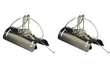 2 Pack Pest Stop tipo Barrel Tunnel Mole Trappola RODITORI IN ACCIAIO ZINCATO QUICK UCCIDERE