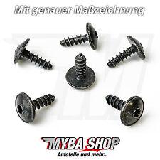 10x Torx TX25 Schrauben für Audi Opel Seat Skoda Porsche VW 5x16x15   N90775001