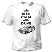 POLISH POLONEZ CARO PLUS FSO KEEP CALM AND DRIVE P - WHITE COTTON TSHIRT