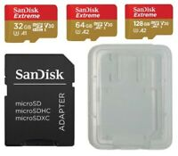 SanDisk Extreme MicroSD 32gb 64gb 128gb with Protective Card Case FREE Adapter