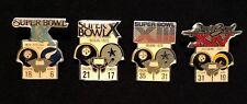 Pittsburgh Steelers Set- First 4 NFL Super Bowl Starline Collector Pins, Vintage