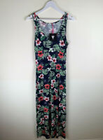 V by Very Channel Waist Maxi Dress Tropical Floral Summer Print UK22 RRP£20