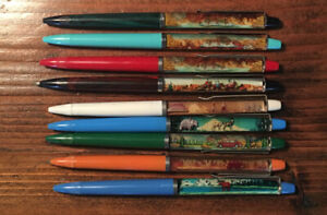National Parks Floating Pens (Lot of 9) Not For Writing/Dried Ink