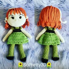 Crocheted Anna from Frozen Inspired Amigurumi! Free Shipping too!