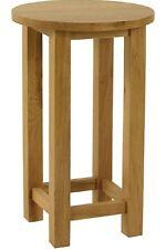 Woodvale Oak Round Wine Table/Lamp Table Oak Fully Assembled