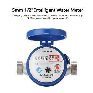 15mm 1/2 Inch Intelligent Water Meter Household Cold Water Meter for Garden Home