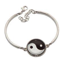 Yin Ying und & + Yang Damen Armband Armspange Armreif Rhodium versilbert silber