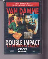 DVD  DOUBLE IMPACT LA VENDETTA FINALE  J.C.VAN DAMME, AZIONE, OTTIMO