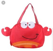 Stephen Joseph Crab Beach Tote Bag For Sand Toys *Does Not Include Toys*