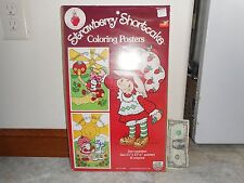 Rare Vintage 1980 Factory-Sealed Strawberry Shortcake Coloring Posters-USA