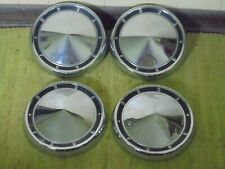 60 61 Ford Dog Dish Hub Caps 10 12 Set Of 4 Poverty Hubcaps 1960 1961 Fits Fairlane