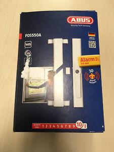 Stabiles Fenster Alarm - Stangenschloss im neuen Design, weiß