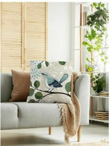 Home Decor Bird Print Throw Pillow Case Cover Without Filler 2 Patterns