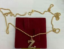 Gold Authentic 18k gold Z neckalce 16 inches chain