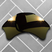 Polarized Copper Mirrored Replacement Lenses for-Oakley Flak Jacket XLJ