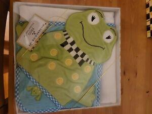 Mackenzie-Childs Frog Hooded Towel