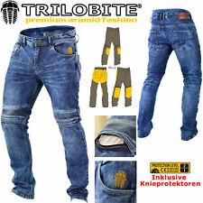 TRILOBITE Motorrad Jeans MICAS URBAN HERREN Hose Slim Fit blau inkl Protektoren