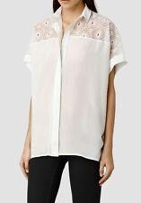 Bnwt Allsaints Lilja shirt.chalk. Silk. Uk 4 (fits 6). £148