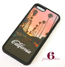 for iPhone 6 / 6S - California Sunset Bvld Hard TPU Rubber Gummy Skin Case Cover