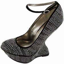 Steve Madden Mujer Gosssip Plataforma Zapato Zapatilla, Negro Multicolor, Us 5.5