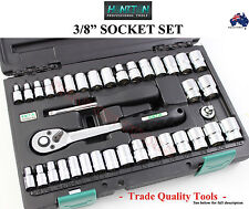 "HONITON 3/8"" SOCKET SET EXCEEDS DIN GERMAN STANDARDS TRADE QUALITY TOOLS SPECIAL"
