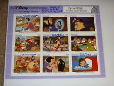 Adriana Caselotti Signed Disney Stamp Sheet Autographed, Voice of Snow White