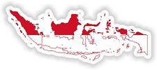 Sticker Silhouette Indonesia Map Flag Bumper Guitar Skateboard Locker Tablet