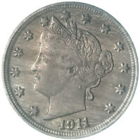 1911 Liberty V Nickel About Uncirculated AU