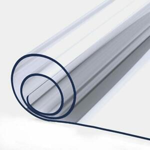 1mm PVC Clear Table Pad Protector Cover Plastic Tablecloth Wipe Clean 70x140cm