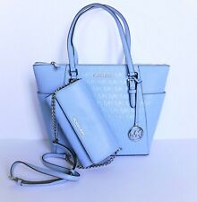 Michael Kors Signature Purse Large Tote Charlotte Light Sky