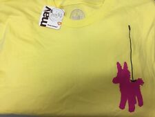 "Limited Edition Yellow Short Sleeve T-shirt ""Party Animal"" Extra Large (XL)"