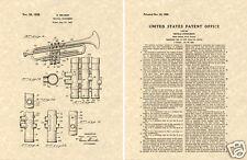 1st SELMER TRUMPET US Patent Art Print READY TO FRAME!! Vintage Brass Instrument