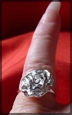 ROSE a Forma di Fiore Anello, regolabile, colore argento, Bigiotteria, PRETTY