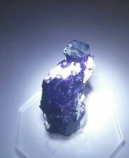 ***ELECTRIC-Blue Azurite crystal on matrix, Milpillas mine Mexico***