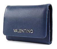 VALENTINO Divina Lady Wallet S Geldbörse Blu Blau Neu